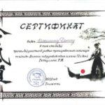 Гатауллин Р 7 дан Айкидо Покровск в Энгельсе